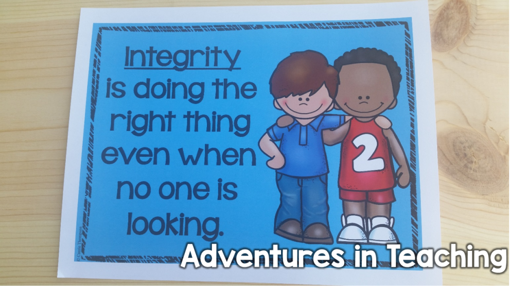 First Grade Classroom: Character Education Posters