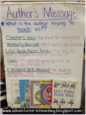 First Grade Classroom: Author's Message
