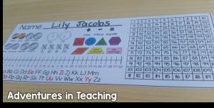 First Grade Classroom: Desk Tags