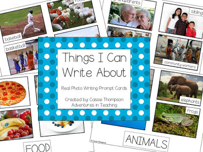 Photo Writing Prompt Cards