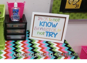 First Grade Classroom: Inspirational Quote for Kids