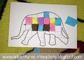 Elmer the Elephant Math & Literacy