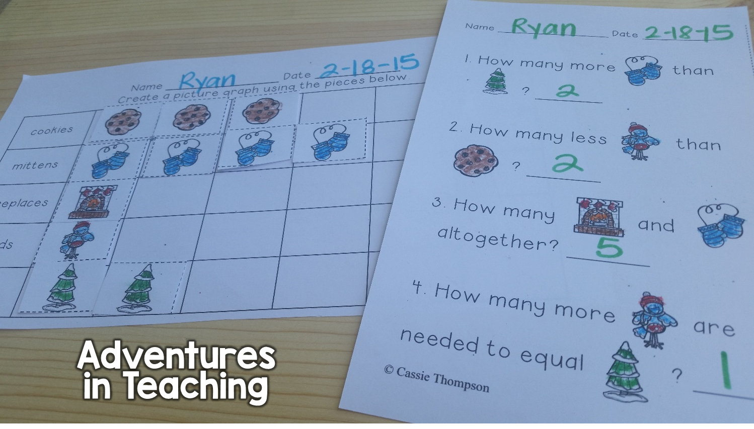 Winter Graphing Printables: 1st grade