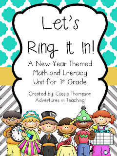 http://www.teacherspayteachers.com/Product/Lets-Ring-It-In-First-Grade-New-Years-Math-and-Literacy-1013919