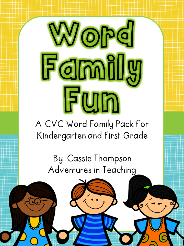 http://www.teacherspayteachers.com/Product/Word-Family-Fun-CVC-1006853
