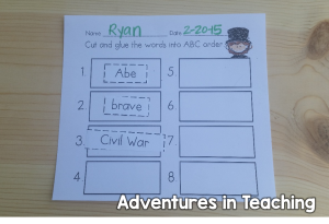 First Grade Classroom: President's Day Freebie