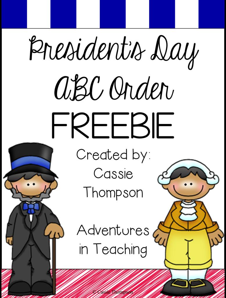 First Grade Classroom: President's Day Freebie