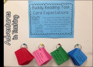 Buddy Reading Task Cards