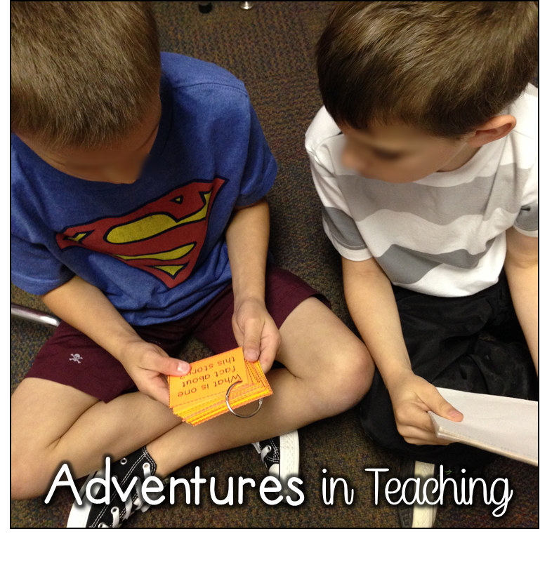 Buddy Reading Task Cards