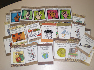 First grade classroom: book bin labels for library