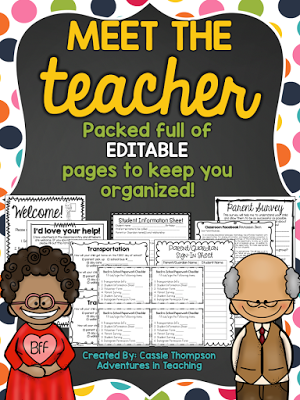 welcome to meet the teacher night pdf