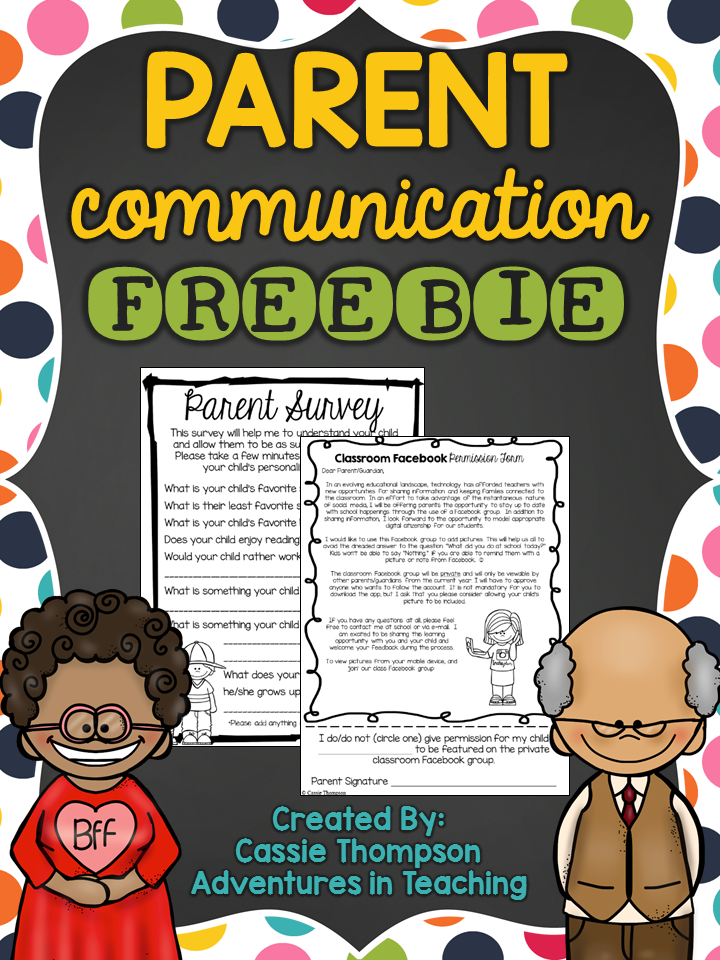 First Grade Classroom: Parent Communication Freebie
