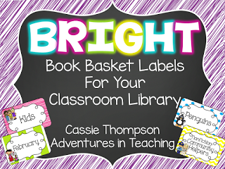 https://www.teacherspayteachers.com/Product/Bright-Book-Basket-Labels-for-your-Classroom-Library-1399500