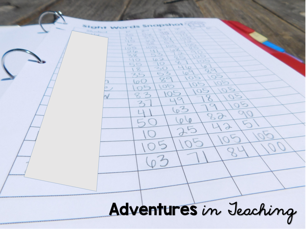 First Grade Classroom: Data Binder