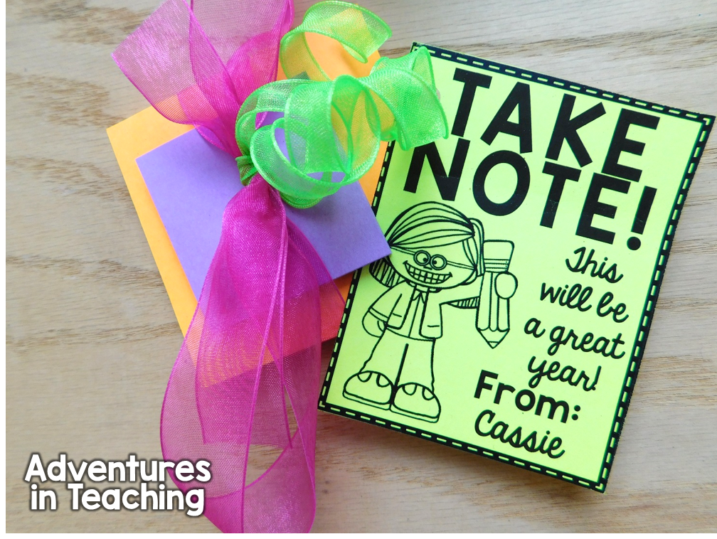 Back to School Gift Tag Freebie