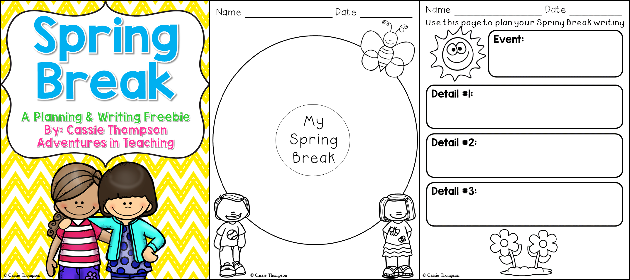 Spring Break Writing Freebie