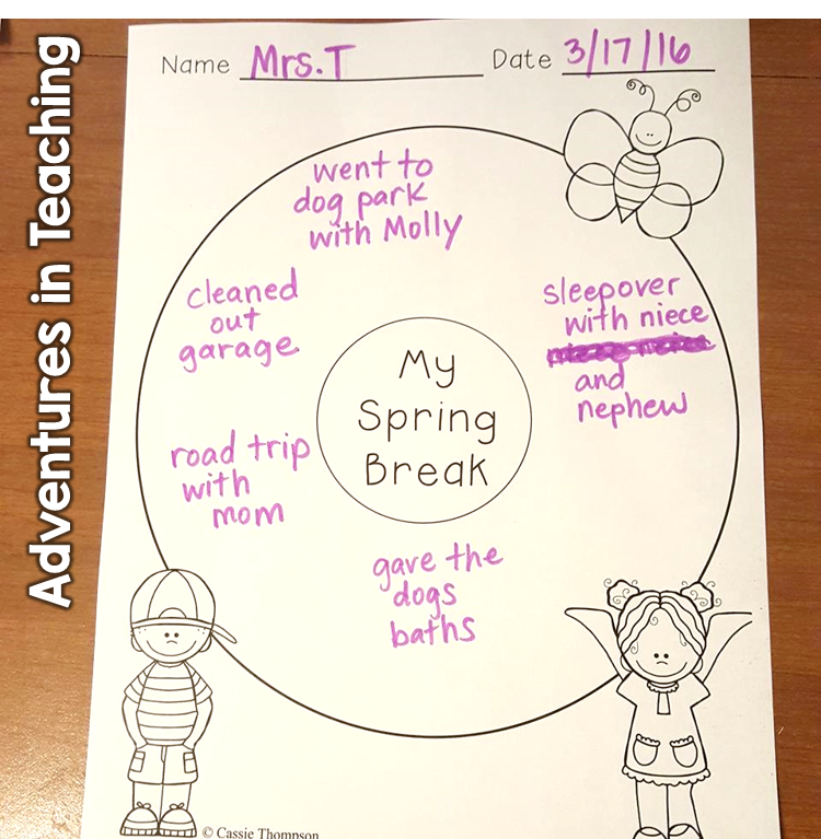 Spring Break Writing Freebie 2