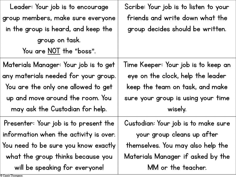 Collaboration Job Cards Explanation